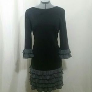 DONNA MORGAN Black Sheath Dress Size 12